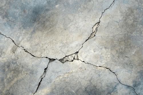 Cracked Concrete Flooring
