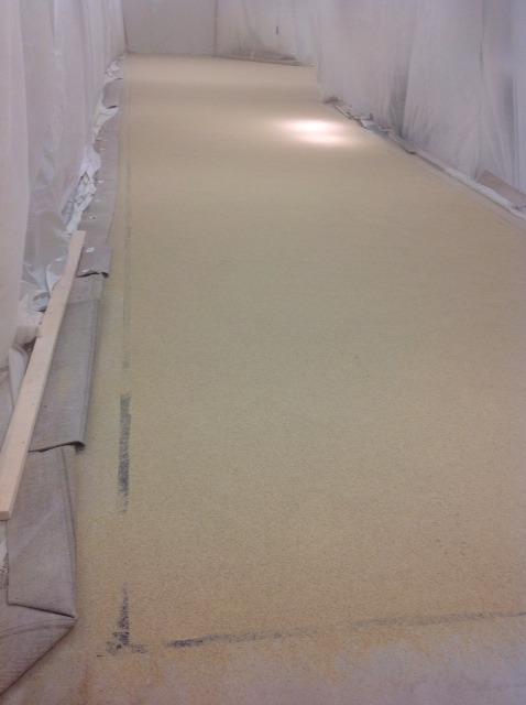 drying concrete overlay