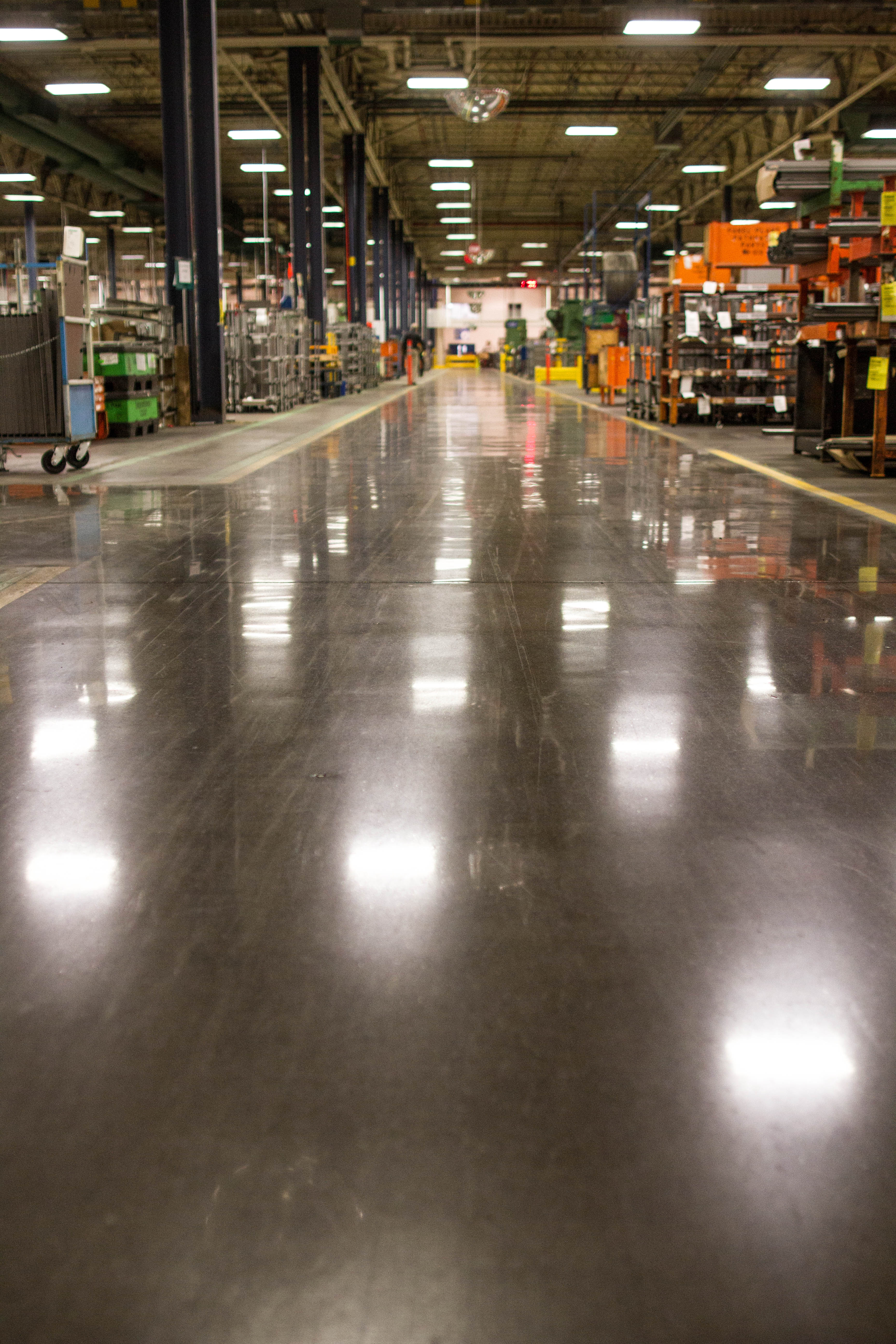 Polished Floor - Kent Companies Manufacturing Facility