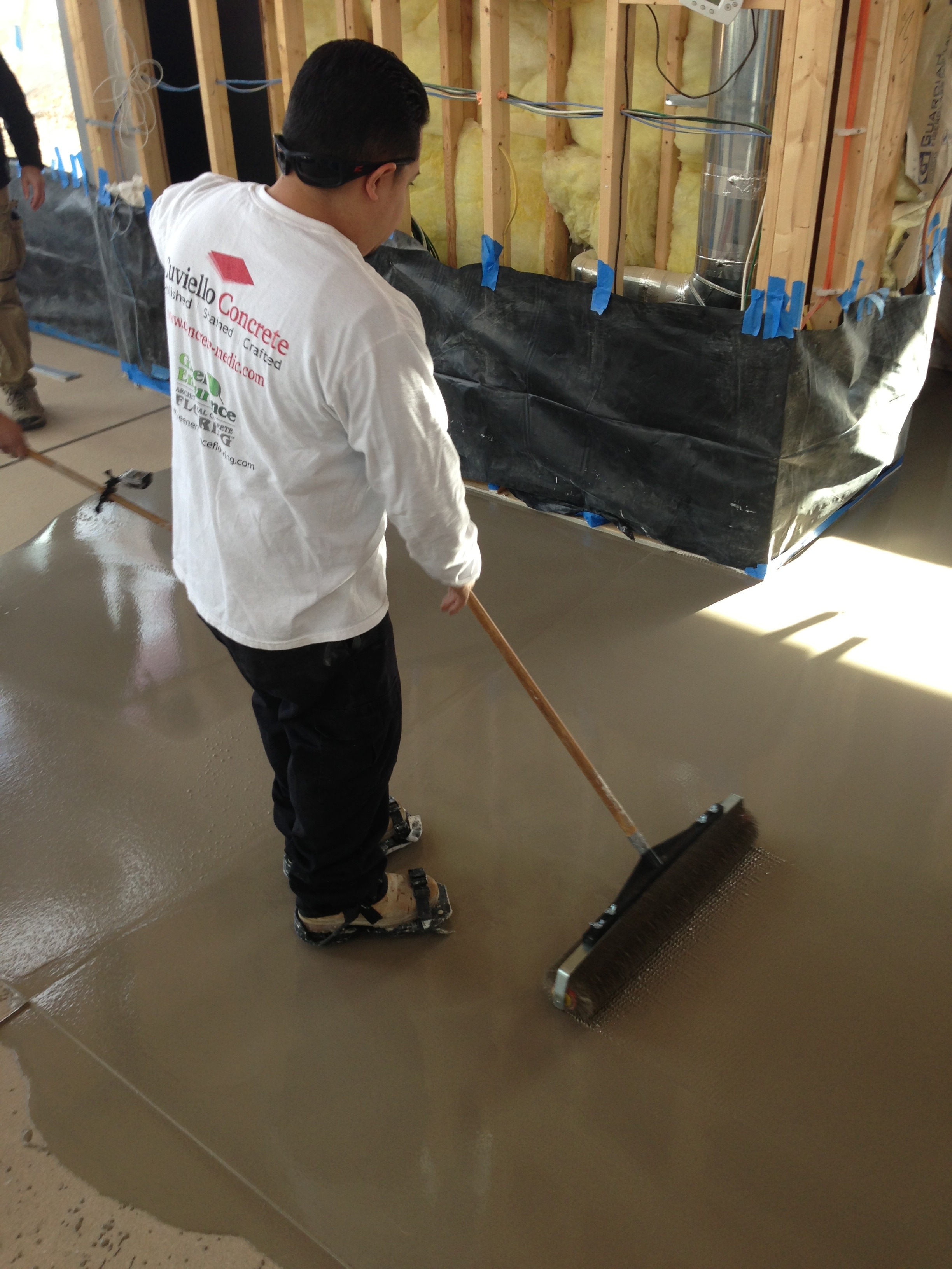 Rolling the Concrete Overlay