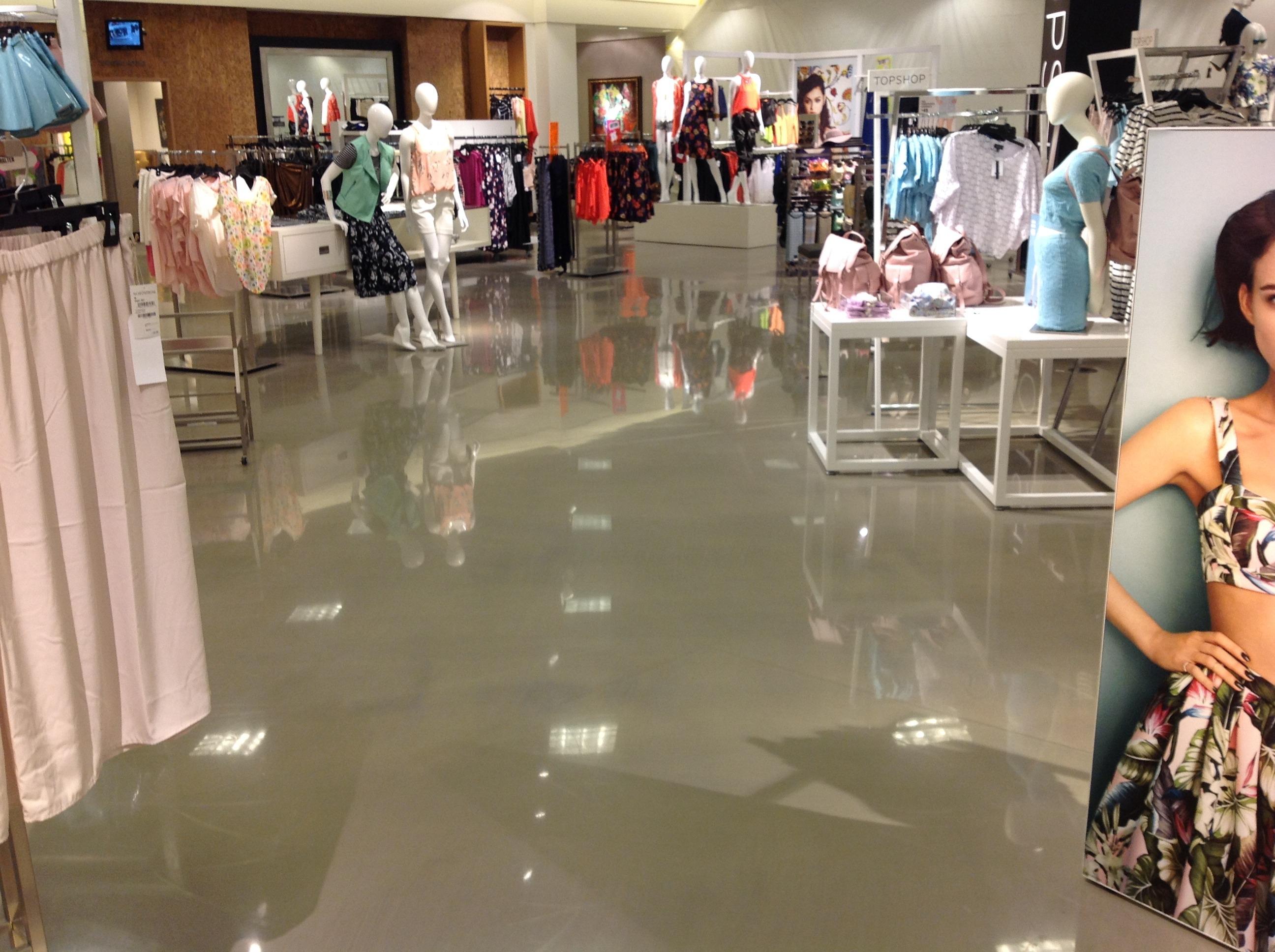 Finished Nordstrom Concrete Floor