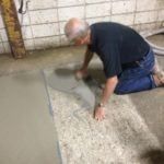 Troweling Out the Concrete Resurfacer