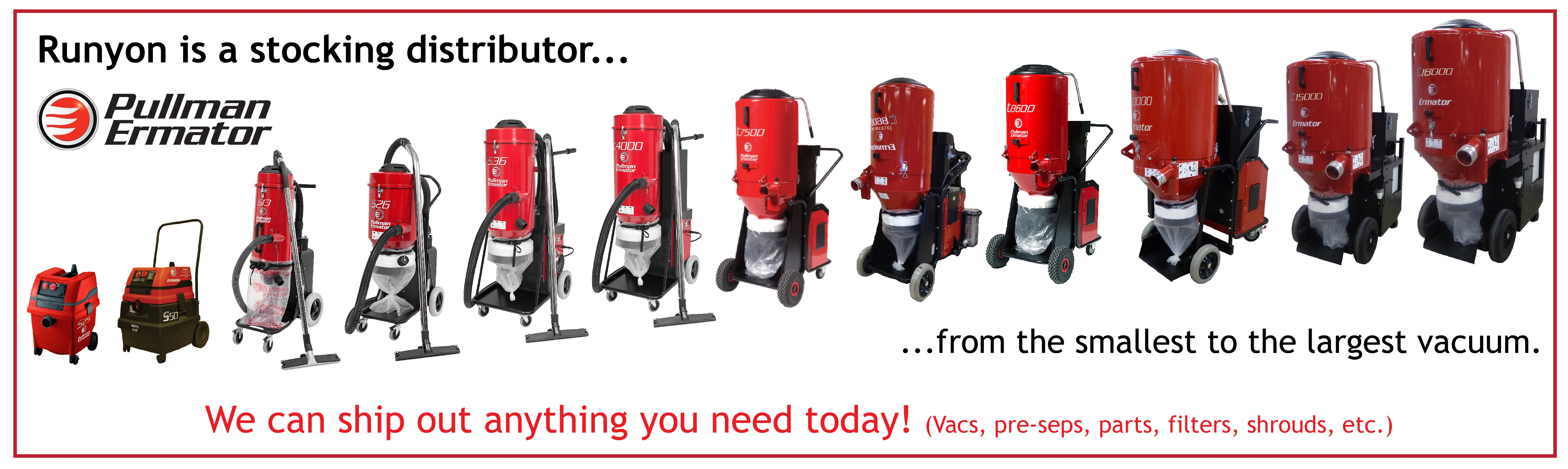 Pullman Ermator Vacuum Line Dust Extraction Equipment