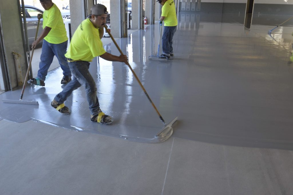 texas-motor-speedway-applying-spartacote-concrete-coatings