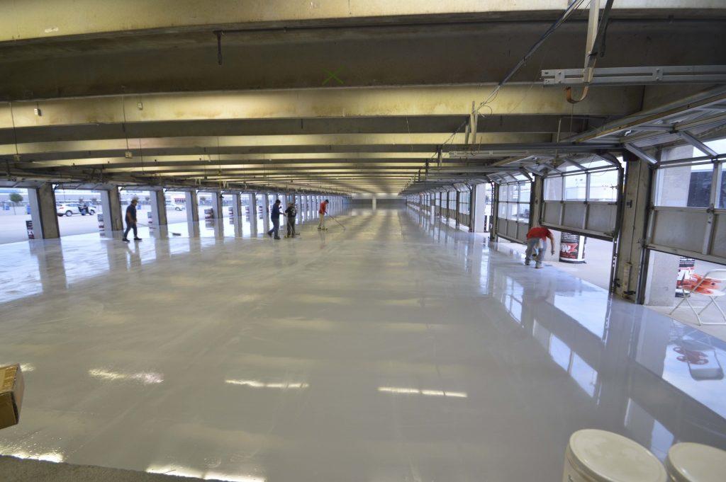 texas-speedway-garage-coatings-process