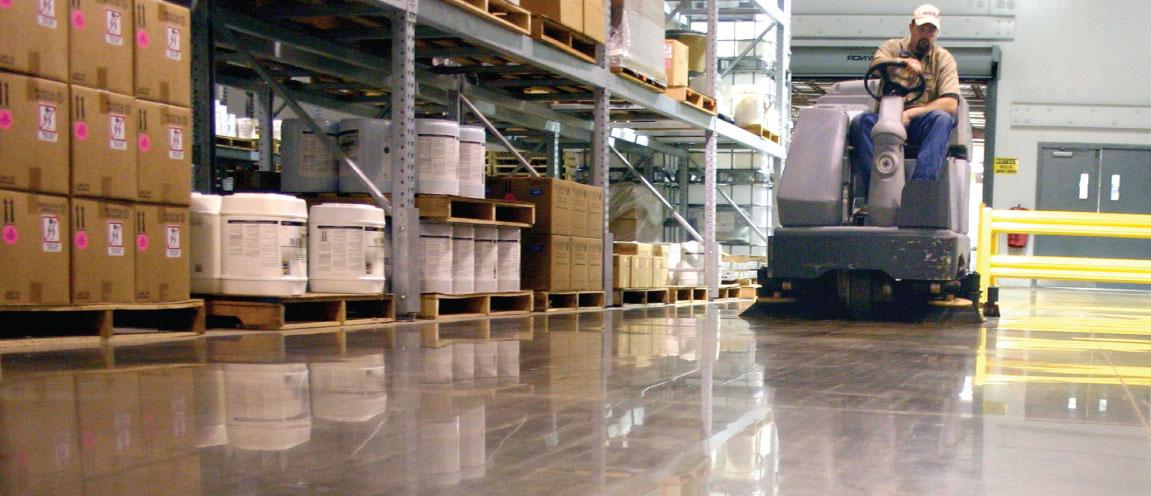 Restoring Polished Concrete After Spills & Stains