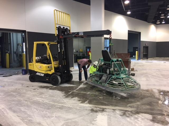 Efficient Slurry Management on Large Power Trowel Polishing Job