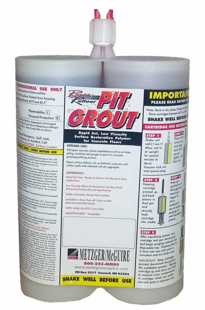Metzger Mcguire Rapid Refloor Pit Grout Runyon Surface Prep