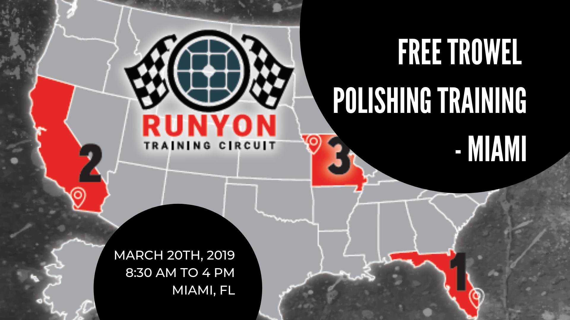 Miami Power Trowel Polishing Training