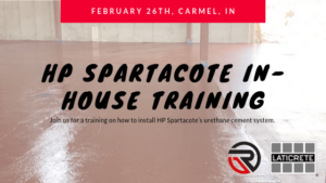 In-House Training: HP Spartacote's Urethane Cement System