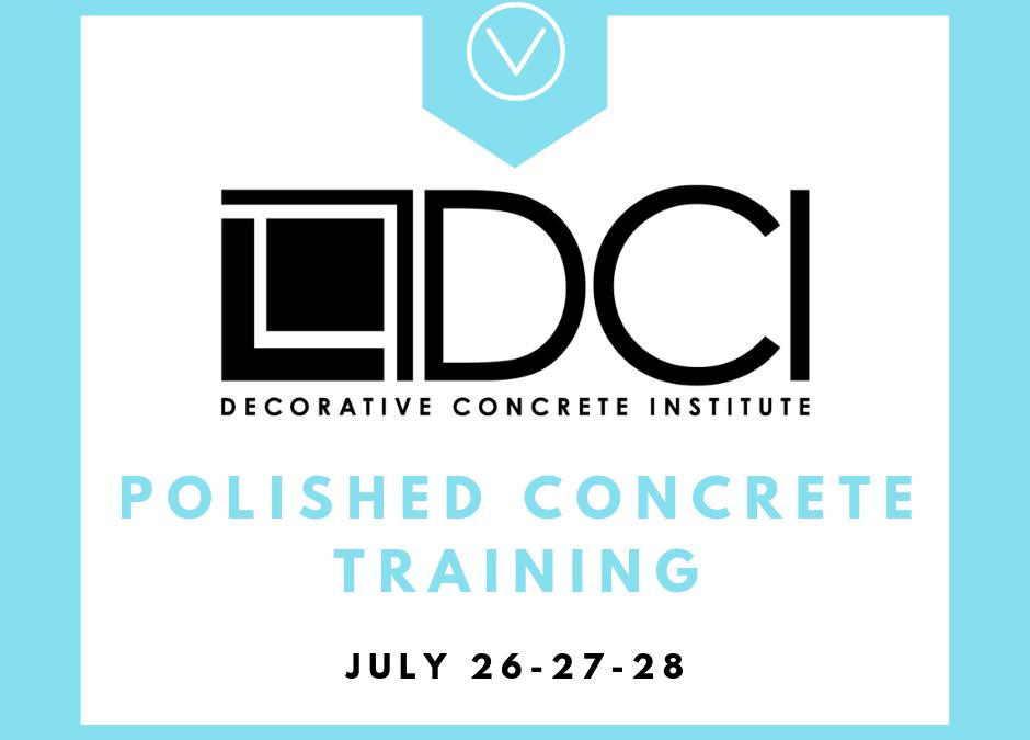 DCI – Polished Concrete Training (Temple, GA)