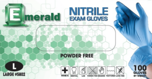 Emerald Powder-Free Nitrile Exam Gloves