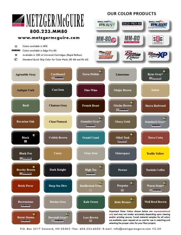 MM Color Chart RSP