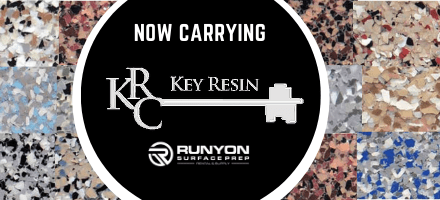 Runyon Surface Prep Now Carrying Key Resin Concrete Coating Products